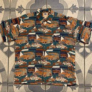 Vintage Kahala Avi Rayon Hawaiian Shirt Sz XL